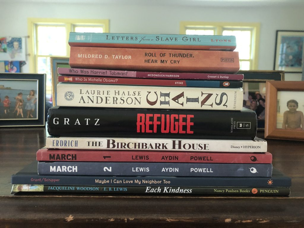 A stack of the books mentioned in this article.