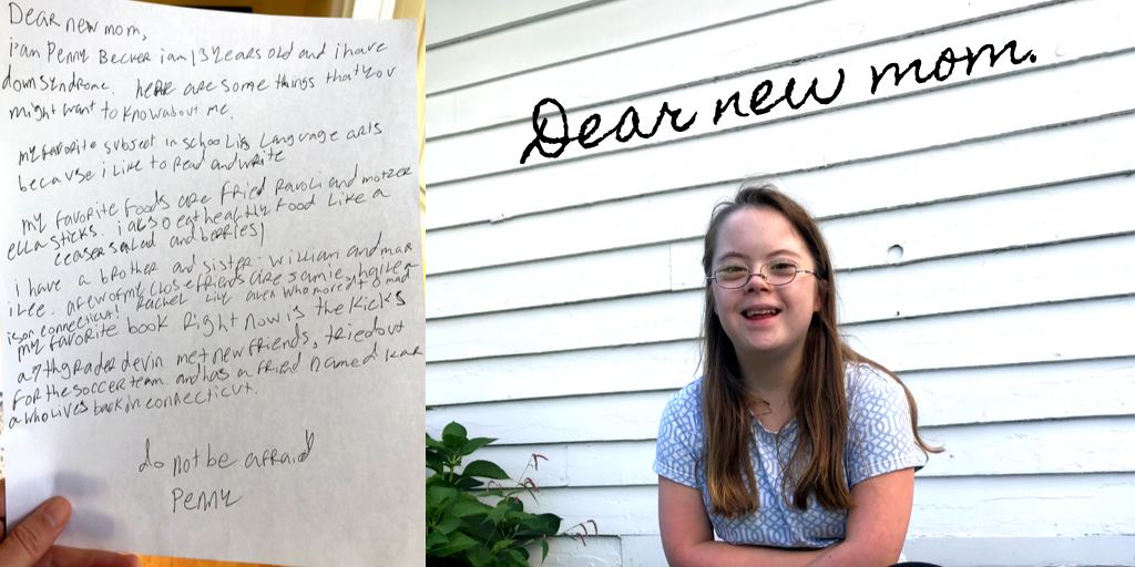 Letter from Penny to a New Mother of a Baby with Down Syndrome