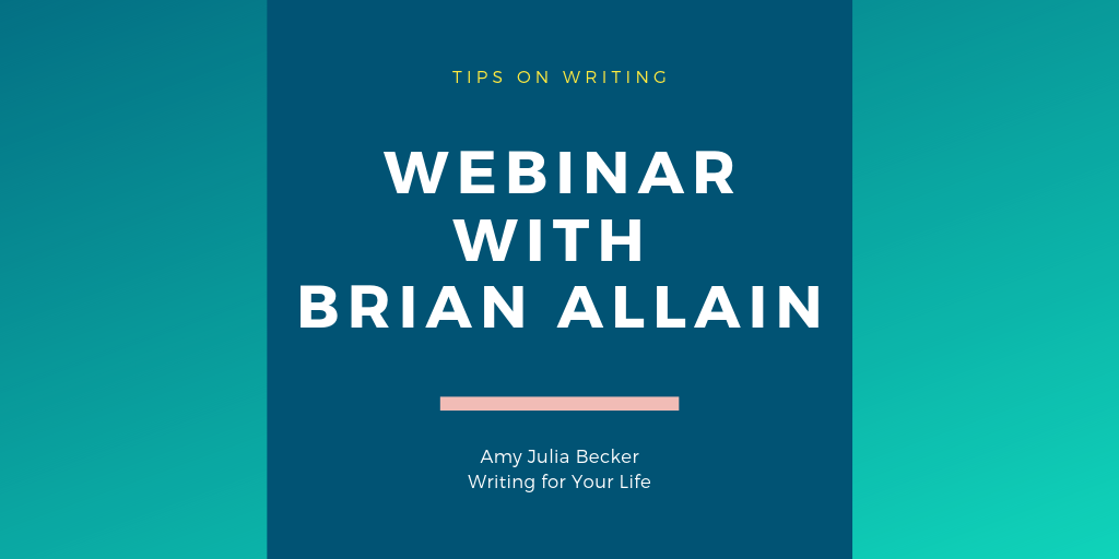Talking with Brian Allain about the Business of Being a Writer