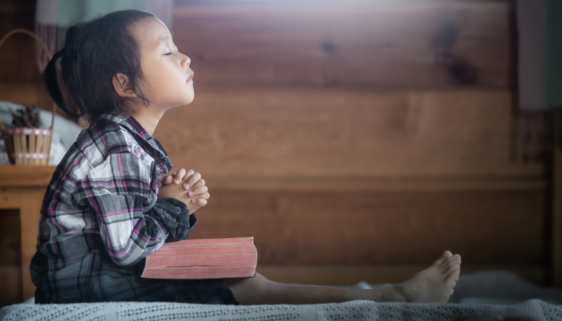 child praying
