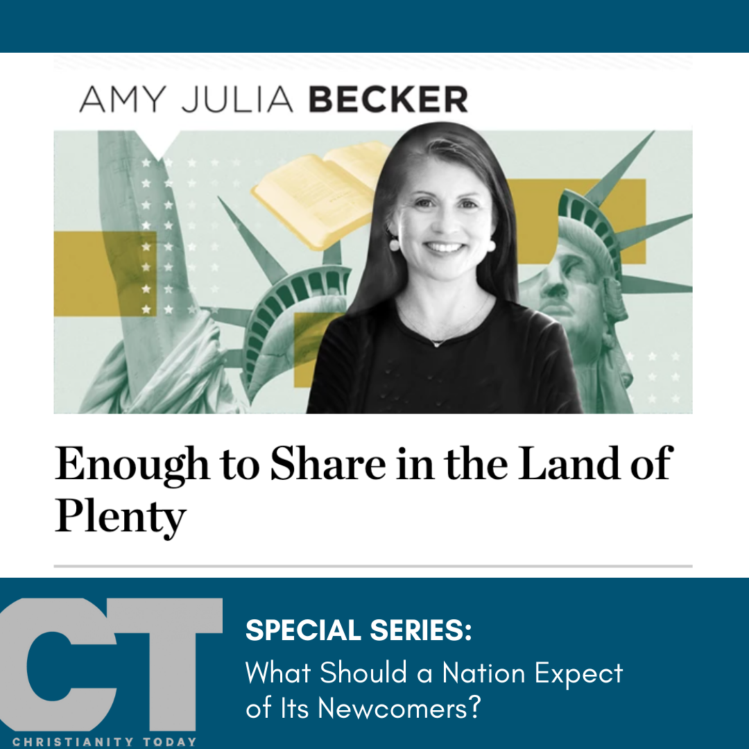 Christianity Today: Enough to Share in the Land of Plenty