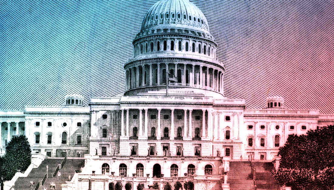 art image of US capitol