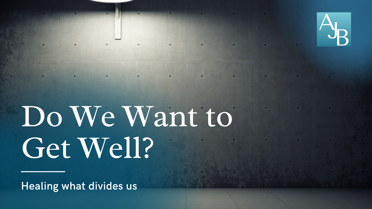 Do We Want to Get Well? Healing What Divides Us