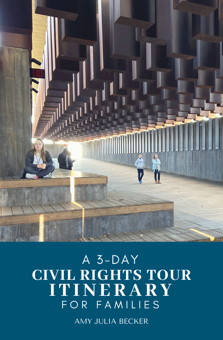 picture of the cover of the 3-day civil rights tour itinerary PDf