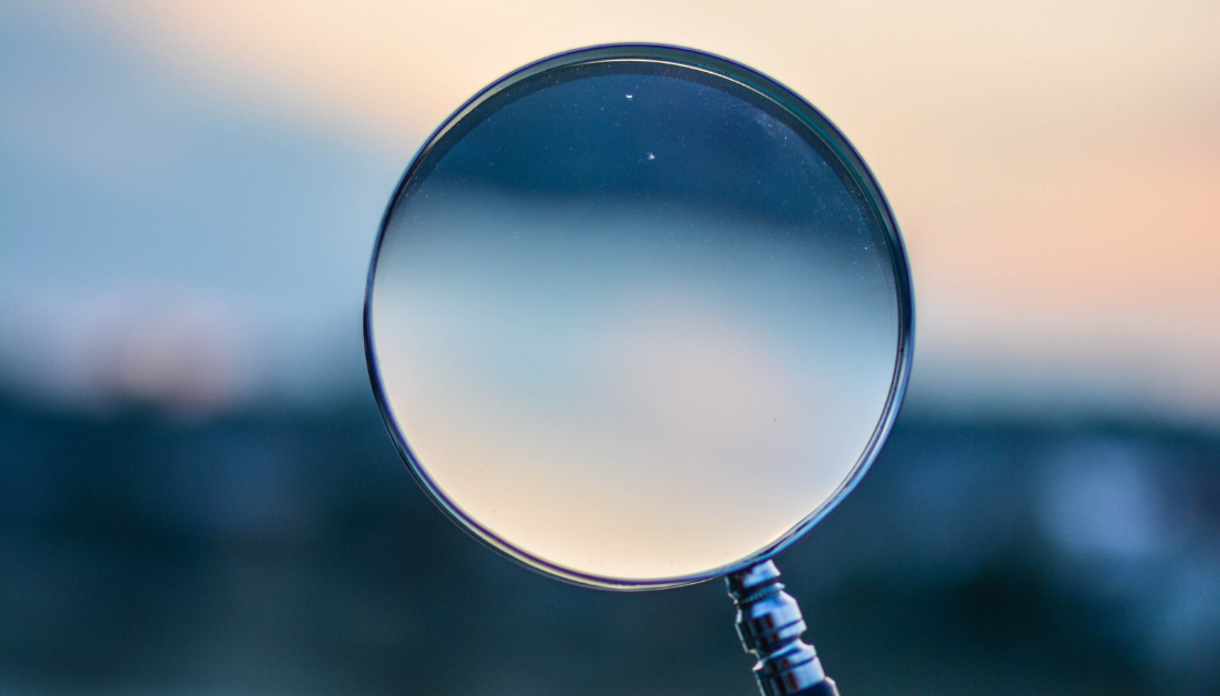 picture of a magnify glass outside