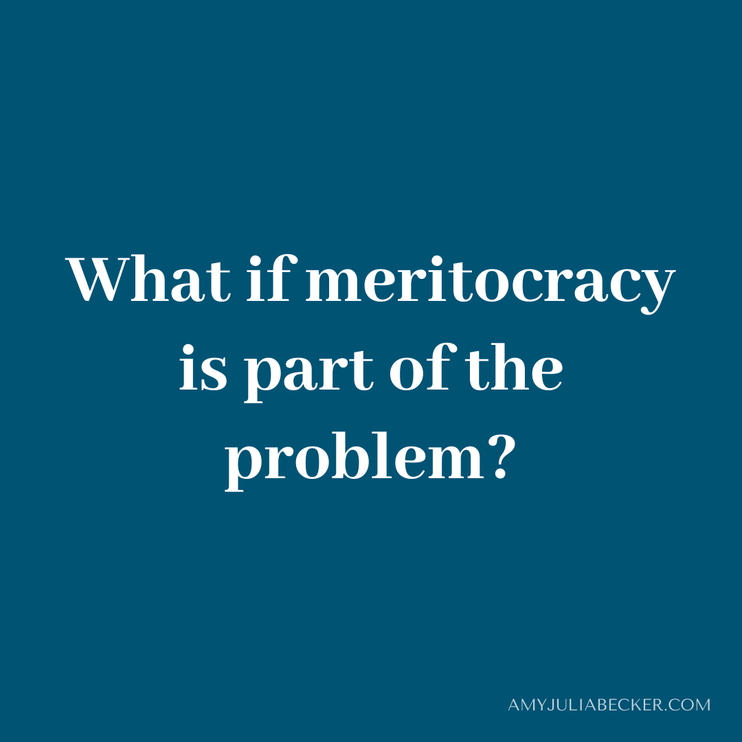 Read more about the article Is Meritocracy Part of the Problem?