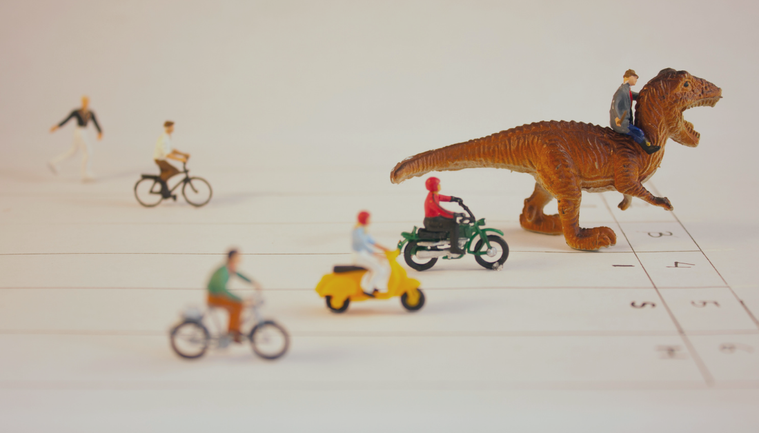 picture of a race using toys that illustrates meritocracy