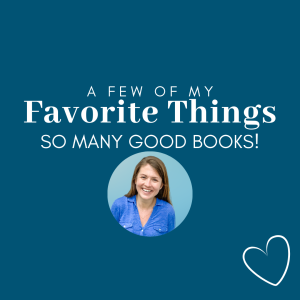 dark blue graphic with circle picture of Amy Julia and text that says So Many Good Books